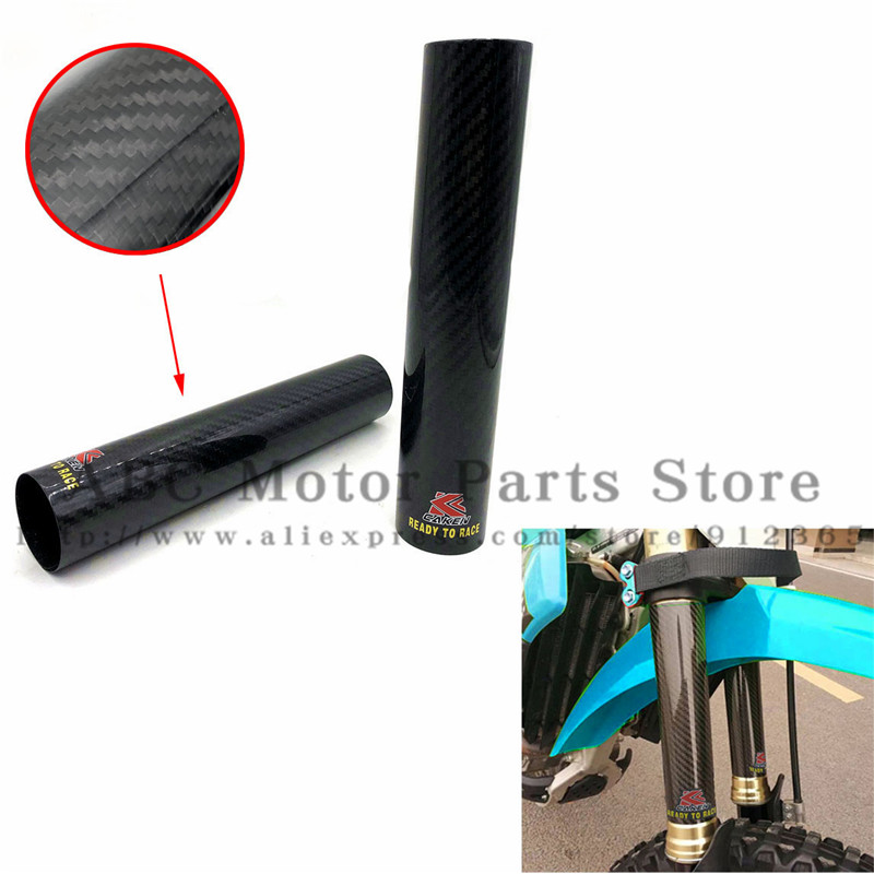 Motorcycle 45 52MM Adjustable Carbon Fiber Front Fork Shock Cover Guard For KTM EXC SX XC
