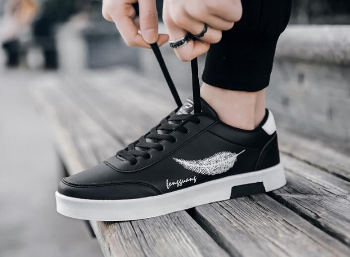 3852ca3df4aeec Hommes Chaussures Royal Hot Sneakers New Printemps Avec Noir D'été De Aller  Décontracté Tendance 2019 Blanches blanc ...