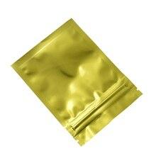 1000pcs/lot Heat Seal Aluminum Foil Zip Lock Bags Packing Bag Resealable 7.5*10cm Gold Mylar Foil Package Bag DHL Free Shipping цена и фото
