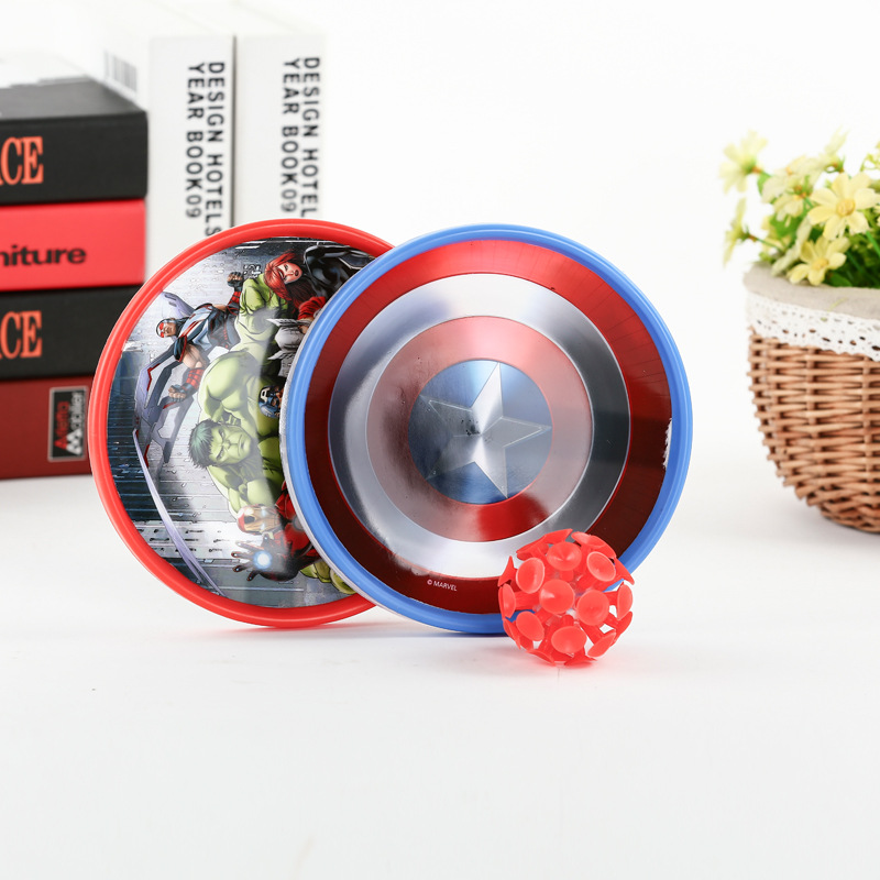 Genuine Marvel Series The Avengers Sucker Sticky Ball Captain America Iron Man Hulk Wolverine Childrens Fun Educational Toys