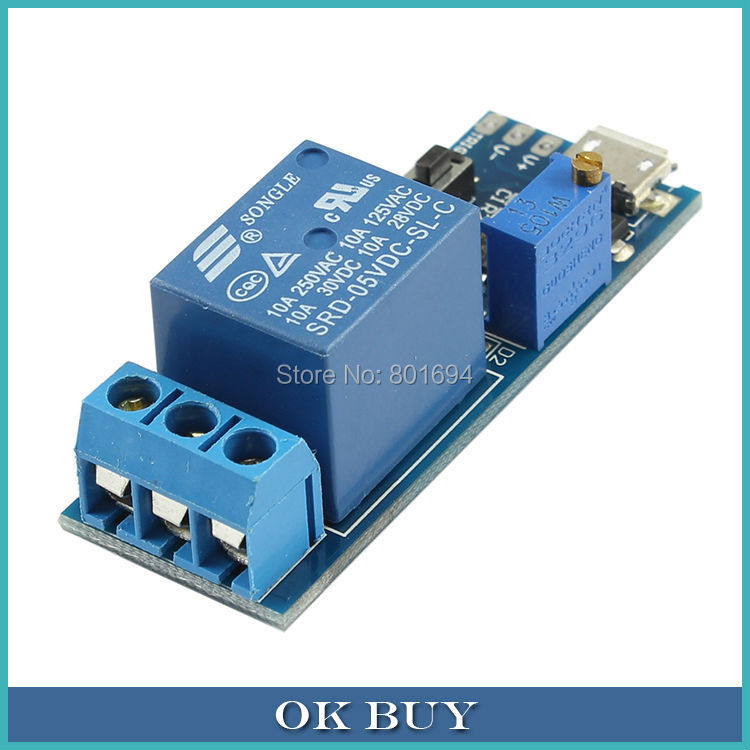 5V-30V Micro USB Power Trigger Delay Relay Indicator Timing Control Switch Module With Anti-interference Ability dc 12v led display digital delay timer control switch module plc automation new