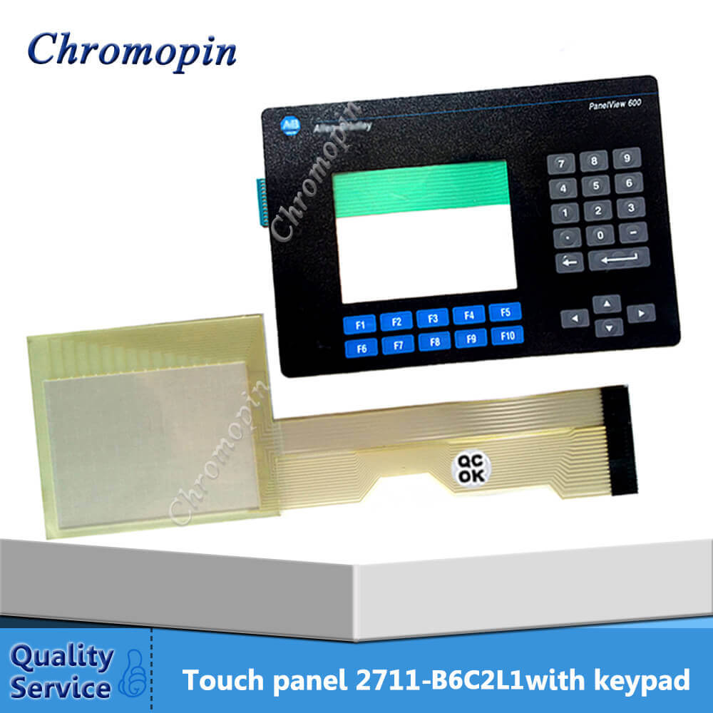 Touch panel screen for AB Panel View 600 2711-B6C16L1 2711-B6C2L1 2711-B6C3L1 with Membrane keyboard membrane switch for 2711 b6c12l1 panel 600 color