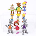 Cartoon Goldie and Bear Fairy Tale Forest Friends PVC Figures Kids Toys Gifts for Children 9pcs/set