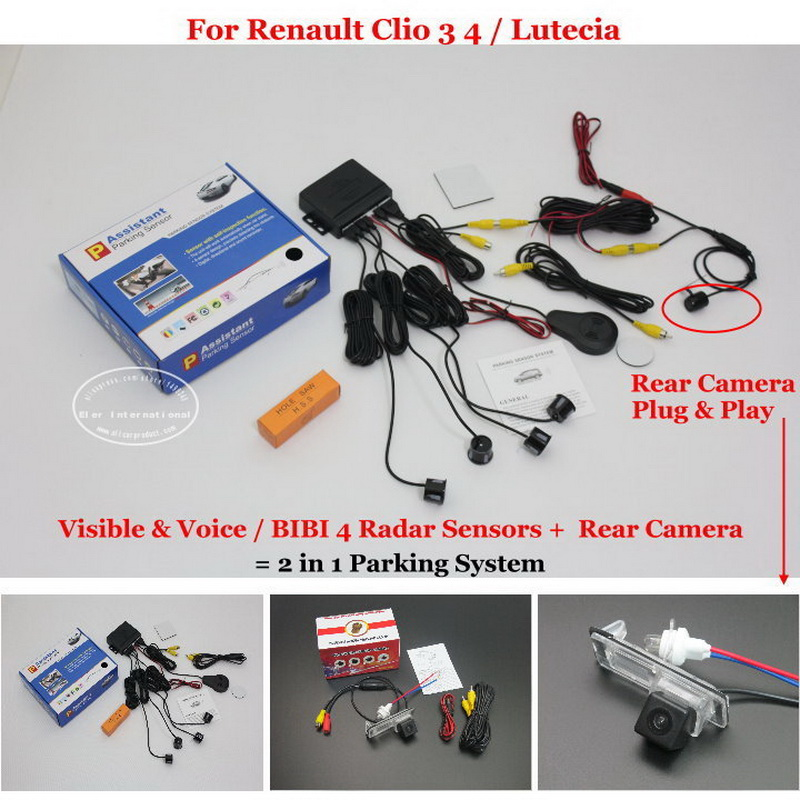 Liislee For Renault Clio 3 4 Lutecia Car Parking Sensors Rear View Back Up Camera 2