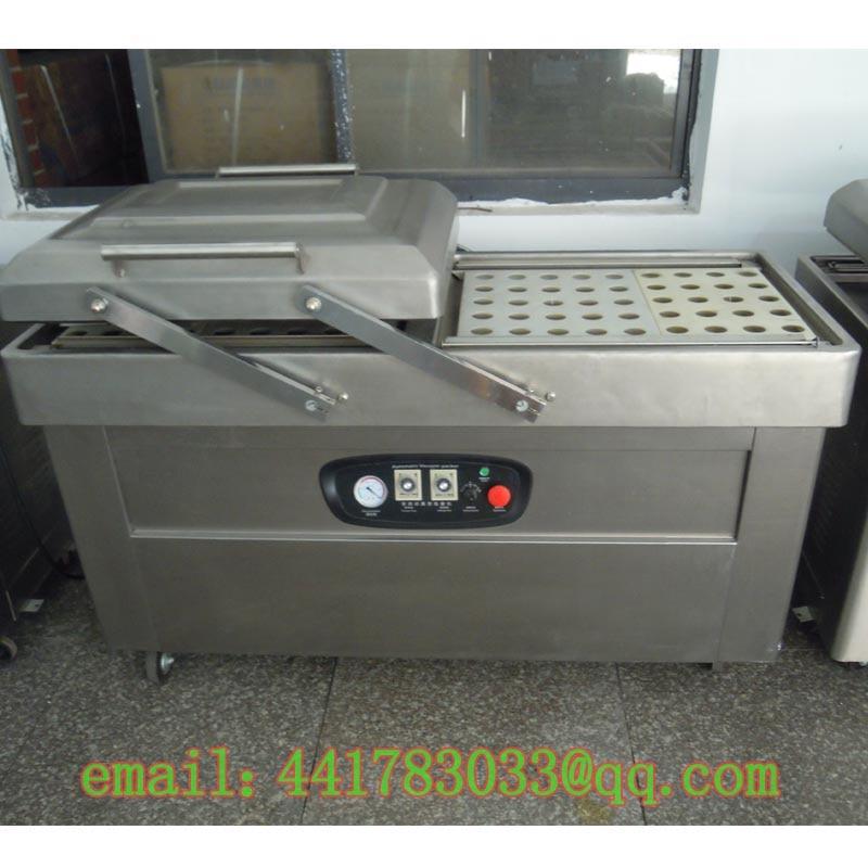 DZ-500 / 2S stainless steel double chamber vacuum packaging machine Food double chamber vacuum machine Meat vacuum machine