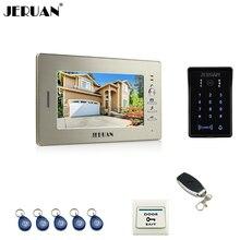 JERUAN Luxury 7 TFT font b video b font door phone intercom system RFID new waterproof