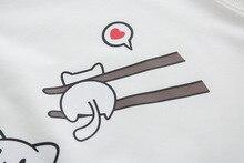 Cute Cats Pattern Printed Hoodie