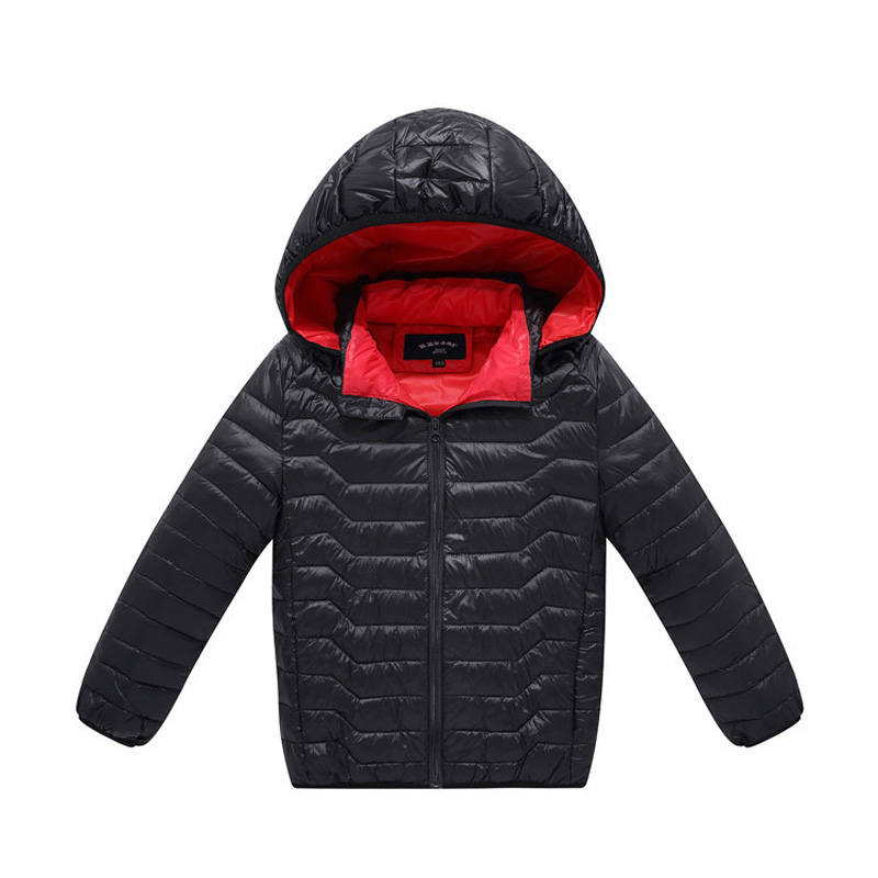 ФОТО Winter Children Jackets For Boys Warm Down Cotton Coat Kids Boys Clothing Casual Hooded Outwear Jackets DQ093