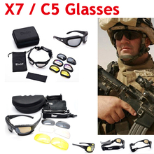 Hot Sale ! FS X7 C5 Polarized Military Sunglasses Airsoft Tactical Shooting Glasses UV400 Outdoor Sport Cycling Hiking Glasses