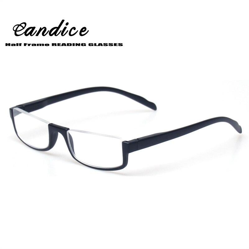 Lesen Glassesl Mode Plasitic Halb Rahmen Frau Männer Eyewears Gläser Frühling Scharnier Schwarz Schildkröte Hyperopie gafas de lectura