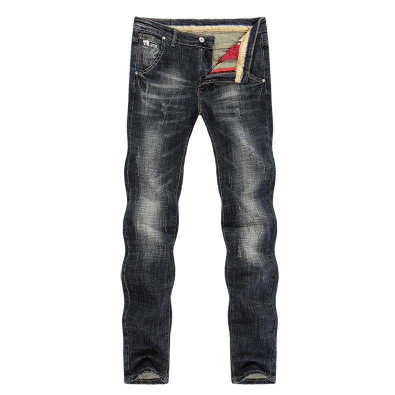 KSTUN Men's Jeans Retro Blue Elasticity Slim Straight Regular Fit Vintage Leisure Motorcycle Jeans Men Denim Pants Jeans Size 40 11