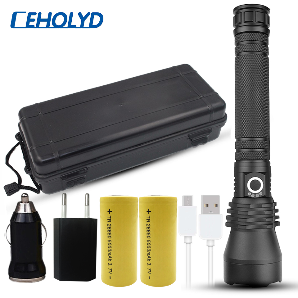 NEW XLamp Xhp70.2 Most Powerful Led Flashlight Usb Zoom Torch Xhp50 18650 Or 26650 Rechargeable Battery