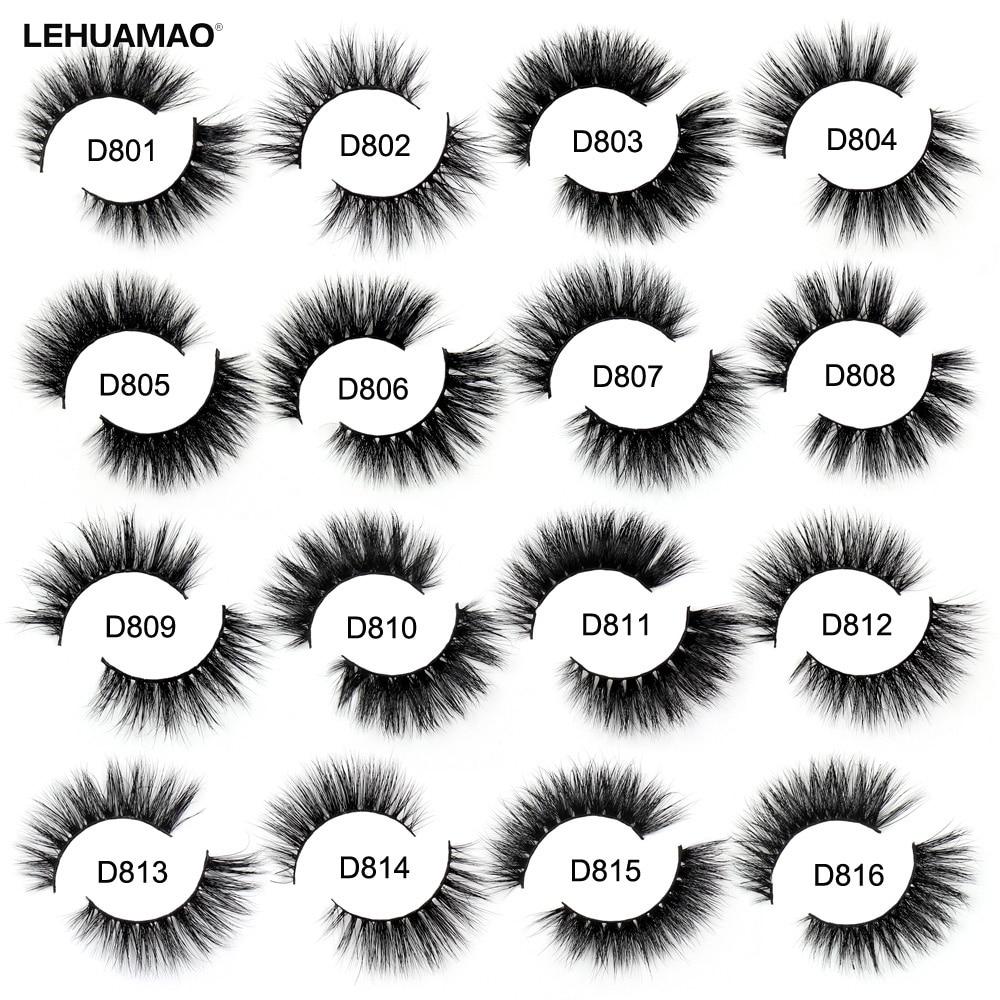 LEHUAMAO 3D Mink Lashes Thick False Eyelashes Long Natural & Lightweight Volume Mink Eyelashes 1 Pair Make