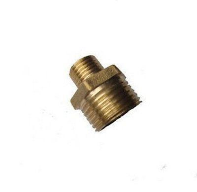 20pcs Brass 3/8 Male x 1/2 BSP Male Adapter Reducer 15pcs lot 8 03 8mm 3 8 bsp 2 ways male barbs elbow hose brass pipe adapter coupler