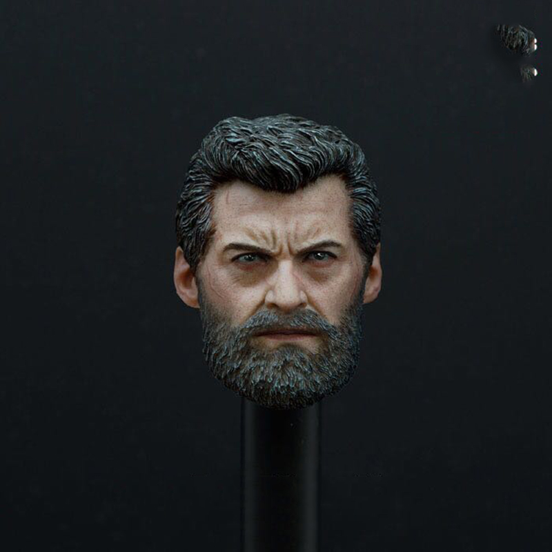 1/6 Scale X-Man Wolverine Logan Head Sculpt Models for 12 Inches Male Bodies Figures Accessories Collections Gifts Toys 1 6 scale american president abraham lincon head sculpt for 12 inches male bodies dolls figures collections toys gifts