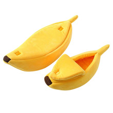Small Pet Bed Banana Shape Fluffy Warm Soft Plush Breathable Cat & Sofa House Lovely Suitable Cushion