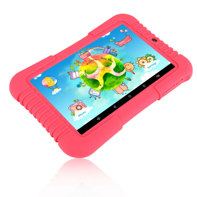 Original iRULU Y3 7″ BabyPad For Kids GMS 1280*800 IPS Quad Core Android 5.1 Tablet PC for Children 1G 16G Silicone Case Gift