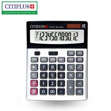 Desktop Computer Electronic Calculator Counter Solar & Battery Power 12 Digit Display Multi-functional Big Button Calculators key bench calculator 5500 calculator solar dual power metal surface office electronic calculators for financeira school