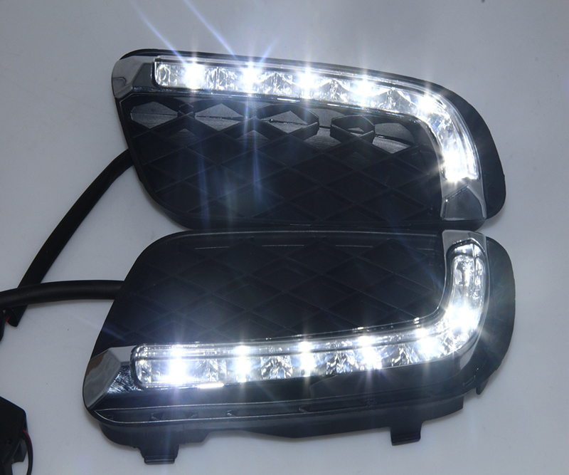 Car Flashing 2Pcs DRL For Mercedes Benz Smart fortwo 2008 2009 2010 2011 Daytime Running Lights