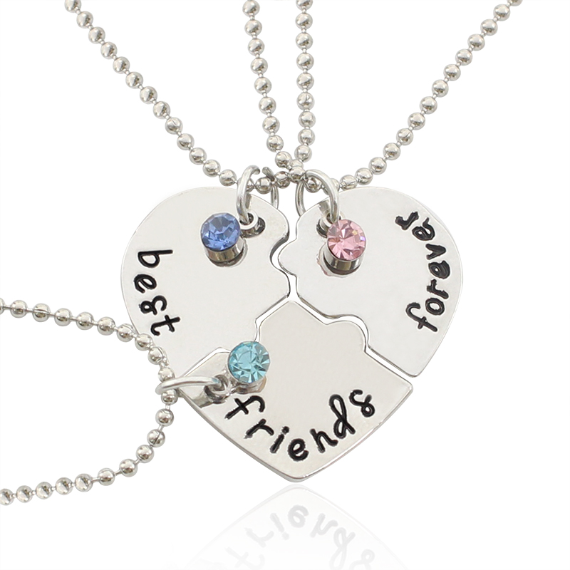 Fashion Best Friend Forever Statement Necklace Sets 3 Pieces ...