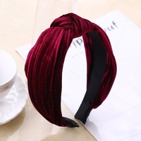 Vintage Knot Velvet Head Band Women Twisted Knotted Headwear Headband Hair Band For Women Girl Gift