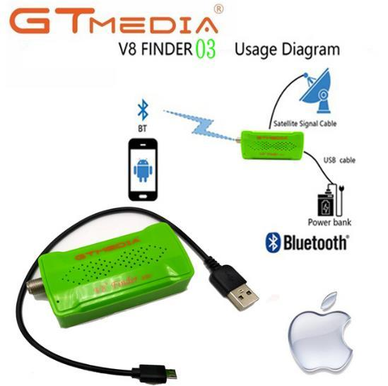GTmedia V8 Finder BT03 DVB-S2 bluetooth satellite finder supports android i os system Connection Receiver