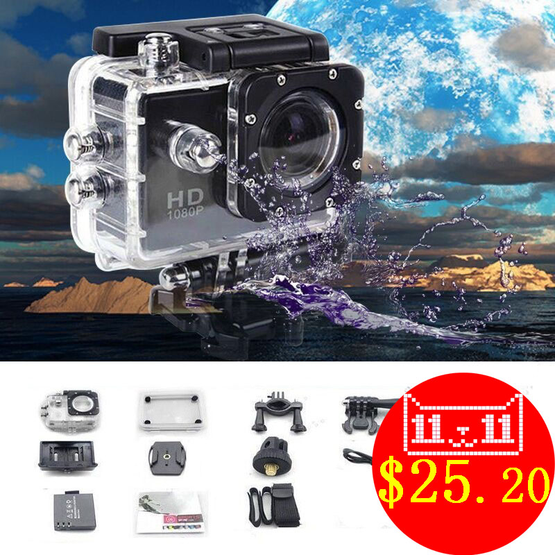 SJ 1080P HD Mini Sport Action Camera Waterproof Cam DV Mini Camcorder Helmet Gopro style go pro with Screen Water Resistant