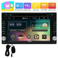 4G Android 6.0 2din 4G 2 Din Car GPS radio Stereo In Dash 2din Support Radio Phone Link Bluetooth SWC USB SD 3G WIFI AUX OBD2