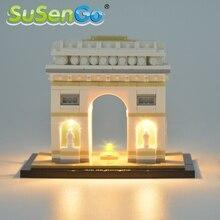 SuSenGo LED Light Kit Only For Architecture Arc De Triomphe Lighting Set Compatible With 21036 17012 NO Building Blocks Model недорого