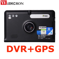 7 inch Android 5.0 Car GPS Navigation dvr video Recorder FM WIFI Truck vehicle gps Built in Map
