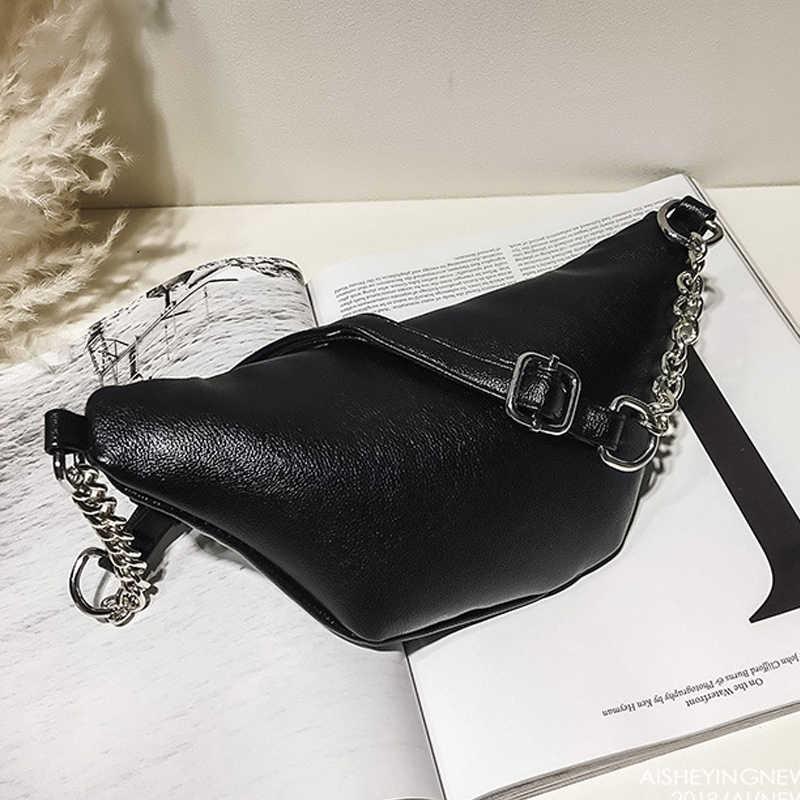 Black White Leather Fanny Pack Waist Bag Heuptas Bumbag Belt Bag Waistbag Waist Belt Pouch Heup Tasje Heuptas Leer Beltbag K004