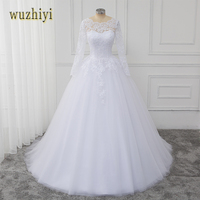 White Pearl Beaded Sweetheart Tulle Ball Gown Wedding Dresses Lace Applique Edge Corset Gown With Trains