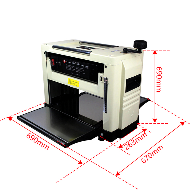 Desktop Press Planer Multi-purpose Single Surface Light Planer Woodworking Machinery Thicknesser 220V Wood Planer JTP-31801