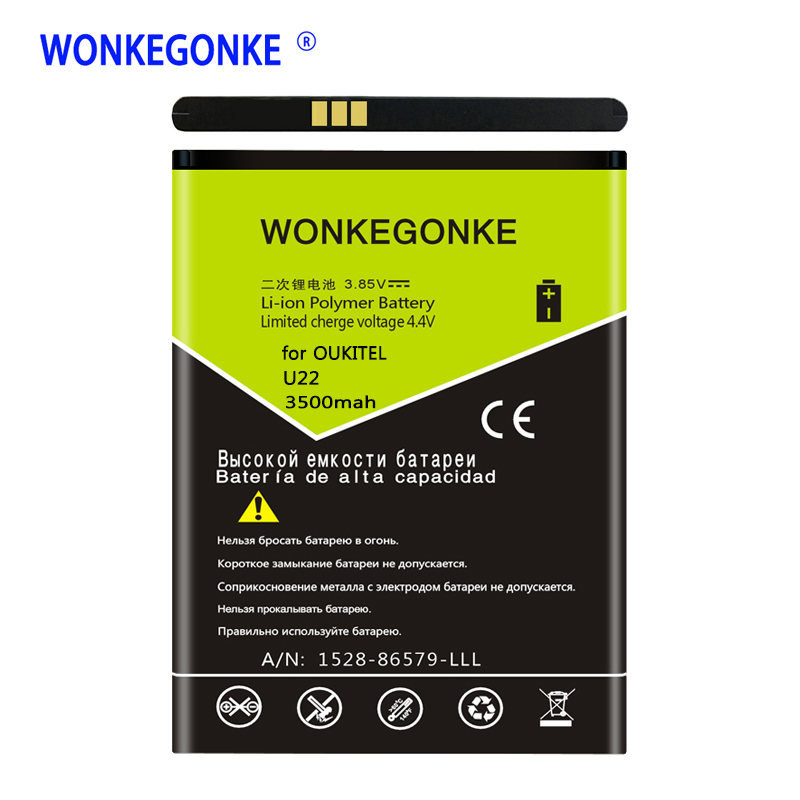 WONKEGONKE for OUKITEL U22 battery Mobile Phone Batteries BateriaWONKEGONKE for OUKITEL U22 battery Mobile Phone Batteries Bateria