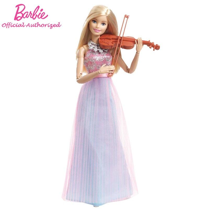 Barbie Acessórios Do Brinquedo Boneca Coleção Músico Violino Menina Marca Original Barbie Boneca Músico Modo DLG94 Frete Grátis