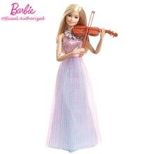 Барби оригинальный бренд коллекция кукла музыкант девушка скрипичные принадлежности игрушка музыкант Кукла Барби режим DLG94 Бесплатная доставка