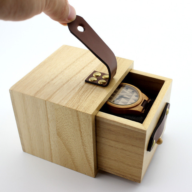 BOBO BIRD Gift Watch Box Solid wooden box Top Quality Square Jewelry Set Storage Box Jewelry Box Wood Colors Available