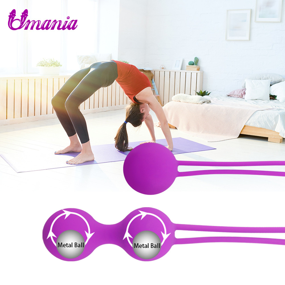 Umania 100% Silicone Kegel Balls,Smart Love Ball for Vaginal Tight Exercise Machine Vibrators,Ben Wa Balls of Sex Toys for Women new leten10speed waterproof liquid silicone intelligent remote smart vaginal balls kegel vaginal tight exercise machine vibrator