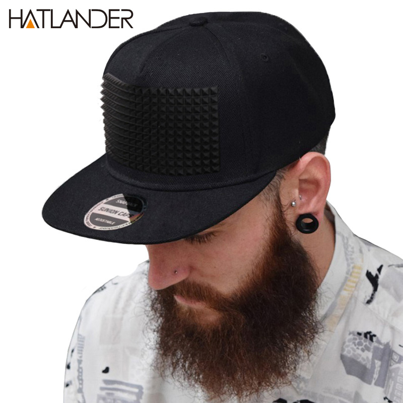Fancy 3D snapback cap raised soft silicon square pyramid flat baseball hip hop hat for boys and girls