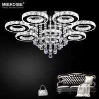 Luces de techo LED modernas luminarias lámpara de diamantes anillos de cristal LED Lustre luces led decoración empotrada luz para el hogar