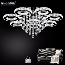 Modern LED Ceiling Light Luminaires Lamp Diamond Rings Crystal Lustre luces led decoracion Flush Mounted for Home