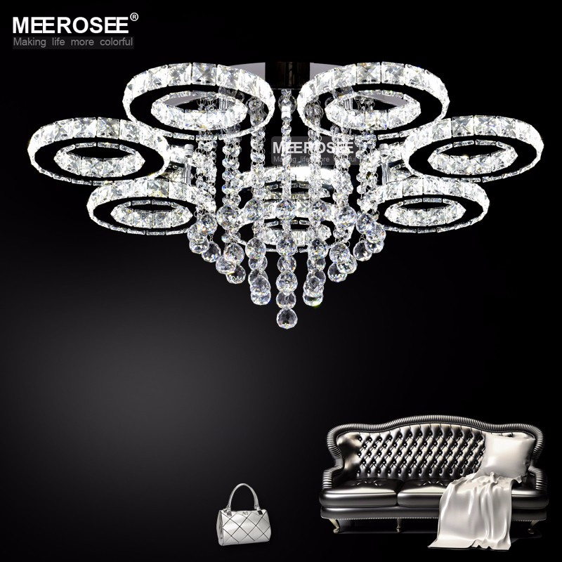 Modern LED Ceiling Light Luminaires Lamp Diamond Rings Crystal LED Lustre luces led decoracion Flush Mounted Light for Home