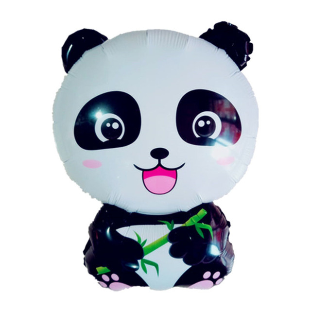 Cartoon Panda Foil Balloons Happy Birthday party decorations kids inflatable Classic Toys China Panda Globos Children's Balloon