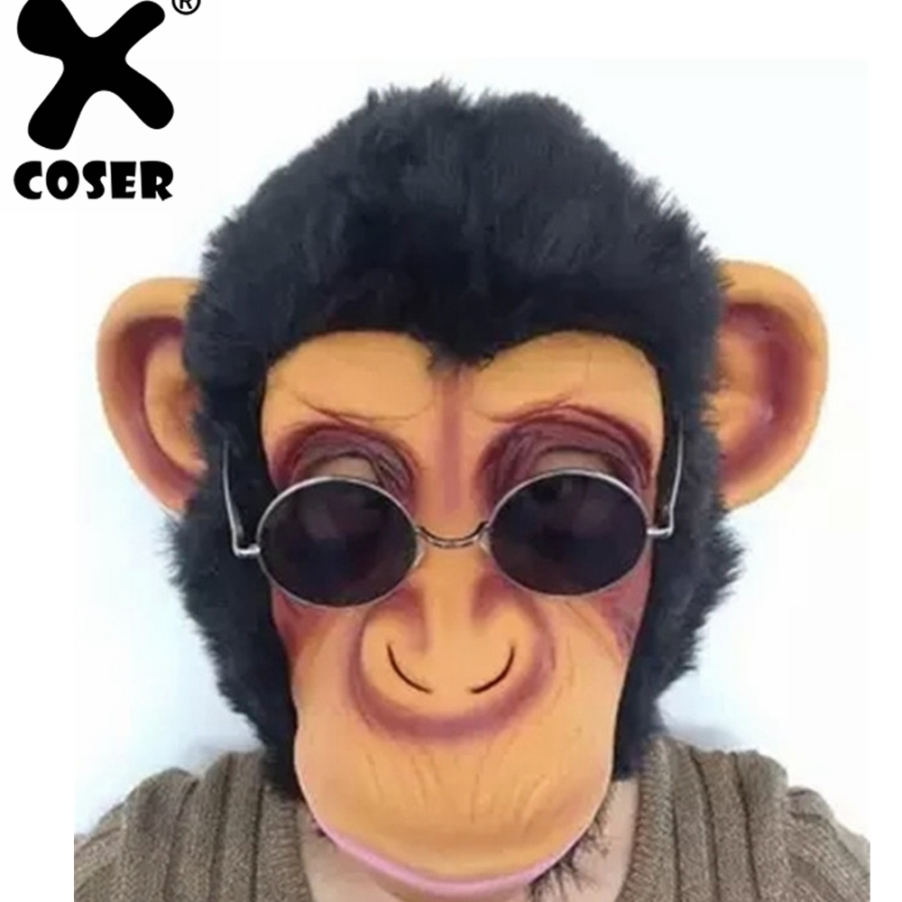 XCOSER Clearance Cheap Sale Animal Monkey Mask Party Halloween Handsome Monkey King Mask Funny Masquerade Party Mask