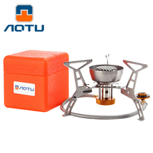 AOTU Split Portable Windproof Gas Stove Adapter Butane 3000W Igniter Picnic Cooking Outdoor Camping Equipment