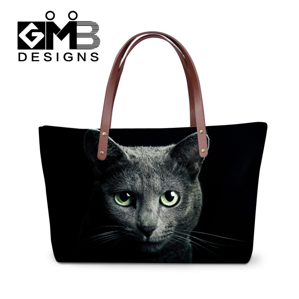 Luxury Handbags For Women Animal Designer Cat Dog Printing Borsa Large Capacity