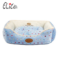 Pet Dog Kennel Four Seasons In Common Use Detachable Cushions Pet Nest Blue Pink Dot Lace