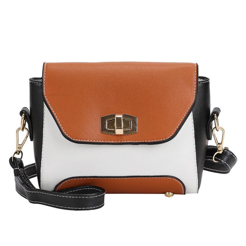 Fashion Women Hit color Messenger Bag Quality Leather Womens Satchel Tote Crossbody Bag Female Shoulder Bag bolsas feminina