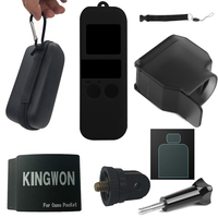 Osmo Pocket Accessories kit, Mini Carrying Case, Multi function Adapter Bracket,Silicone Cover ,Lens Cover,Tempered Glass
