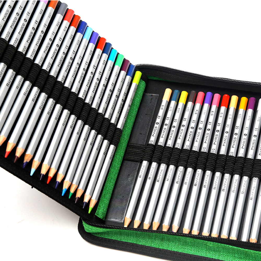 120 Holes Pencils Case School Large Portable PU Leather Capacity Pencil Bag For Students Painting Sketch Art Supplies Penalty купить